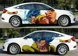 Anime Black Goku DRAGON BALL Super Car Body Door Sticker Graphics Vinyl Decal