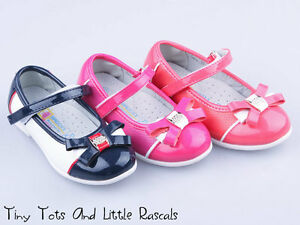 cb96fdc77cb Image is loading Girls-Toddlers-Shoes-Sandals-Ballerina-Pumps-Leather-Sizes-