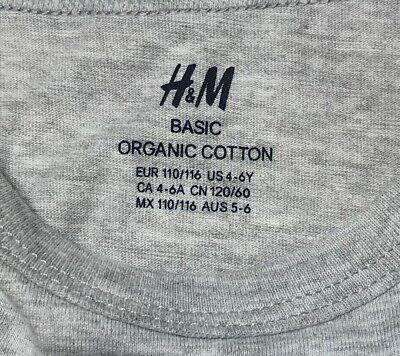 Boys Ex H/&M Long Sleeve T-Shirt Top Organic Cotton Navy Age 4 to 15 Years Kids
