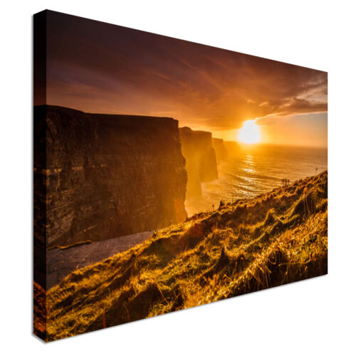 Ireland Canvas Wall Art prints high quality Cliffs of Moher at sunset Clare
