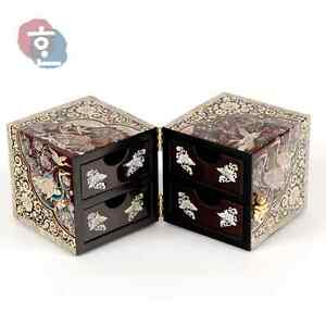 Korean woodwork Jagae jewelry box eBay