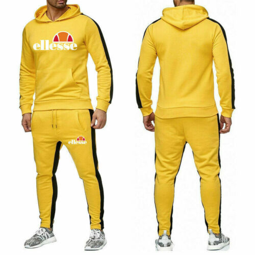 Ellesse Jogginganzug Sporthose/&Hoodie Anzug Herren Sportanzug Trainingsanzug