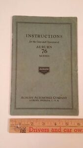 1928-AUBURN-034-Auburn-76-034-Operation-Care-Manual-Excellent-Condition-USA