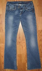 SILVER-JEANS-034-TUESDAY-034-20-034-WOMENS-LOW-RISE-BOOT-CUT-JEANS-SIZE-27-X-33-27-33