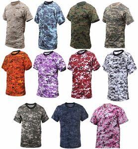 T-Shirt-Digital-Camouflage-Camo-Rothco-Military-Style