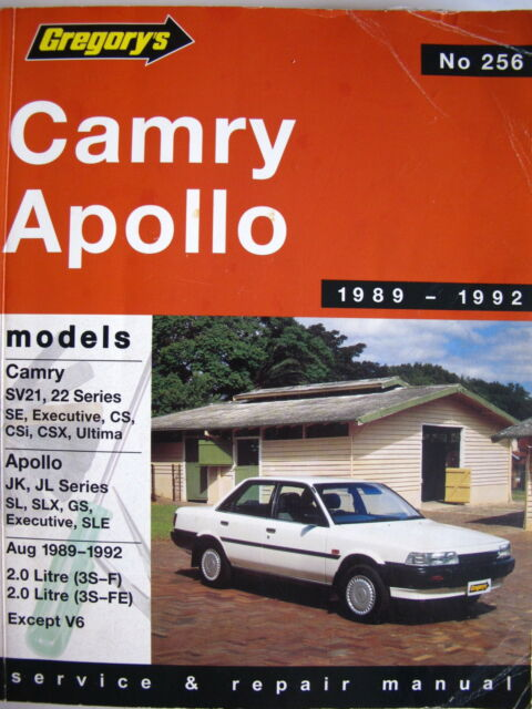 Gregorys service and repair manual - Toyota Camry / Holden Apollo 1989 to 1992