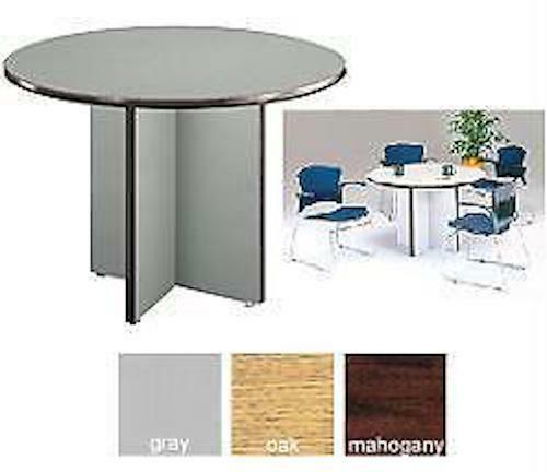 OFM TRD Conference Office Inch Round Gray Laminate Surface - 42 inch round office table