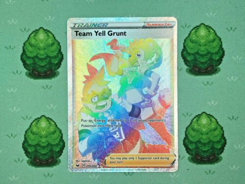 Pokemon 210//202 Team Yell Grunt Sword and Shield Secret Rare