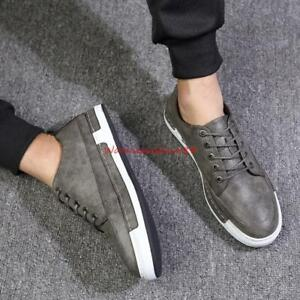 Fashion-Mens-PU-Leather-lace-up-wing-tip-oxford-Brogue-dress-casual-shoes