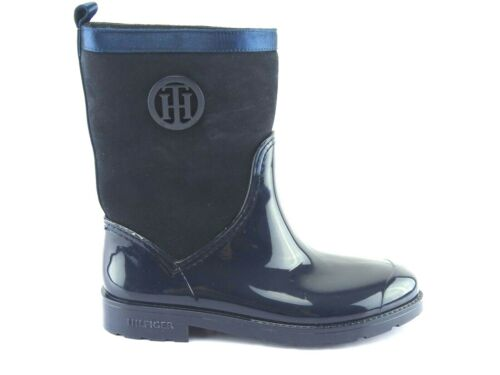 Botas Botas Zapatos Rainboots Tommy Gr 37 goma de Hilfiger mujer Midnight Botas wqxgAIH7OA