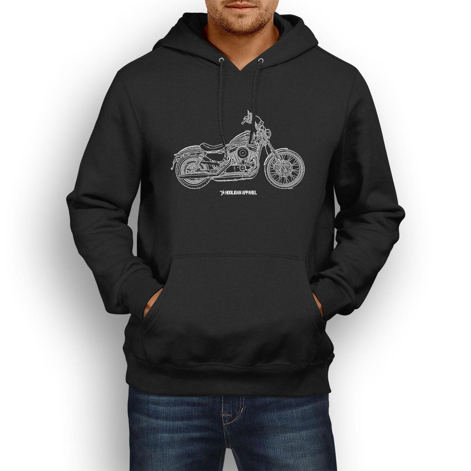 Harley Davidson Seventy Two InspiROT Motorcycle Art Men's Hoodie