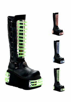 Demonia Men/'S 4 1//2 Inch Platform Cyber Knee Boot With Interchangeable Panels