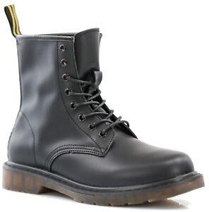 Stivali Uomo Donna Anfibi Stivaletti Scarpe Pelle PU Scarponcini Sneakers S107