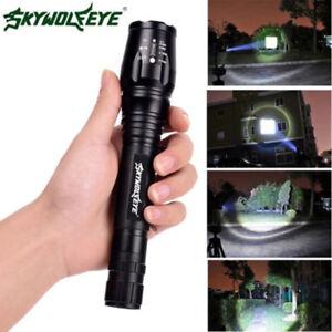 LED-2x-18650-Power-LED-Taschenlampe-CREE-Flash-light-Fokus-Zoom-T6-Hand-lampe