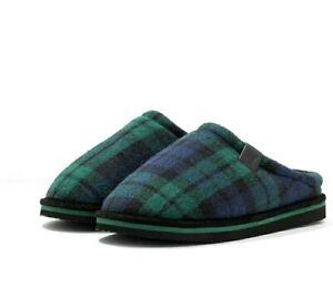 Polo-Ralph-Lauren-Mens-Green-Blue-Jacque-Scuff-Slip-On-Mule-Slppers