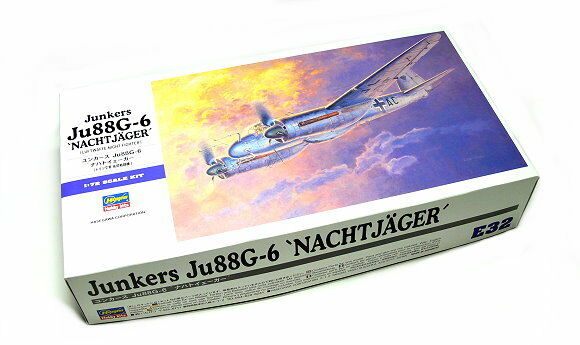 Hasegawa Aircraft Model 1 72 Junkers Ju88G-6 Nachtjager E32 Hobby 01562 H1562