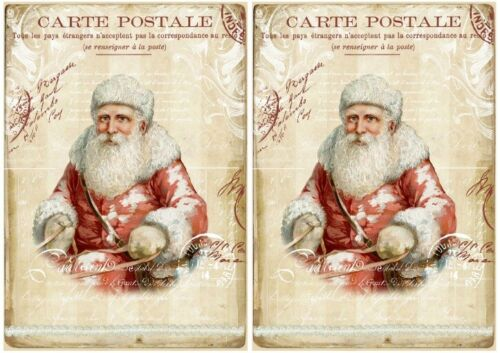 Decoupage-Bastelpapier-Softpapier-Vintage-Shabby-Weihnachten-Santa-12557