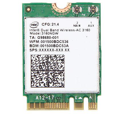 Intel 802.11AC AC3160 3160NGW NGFF M.2 2.4G 5G 433MWIFI /& Bluetooth 4.0 Card