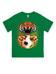 t-shirt-da-bambino-cotone-100-biologico-MASTER-tigre-calciatore-calcio-maglieta