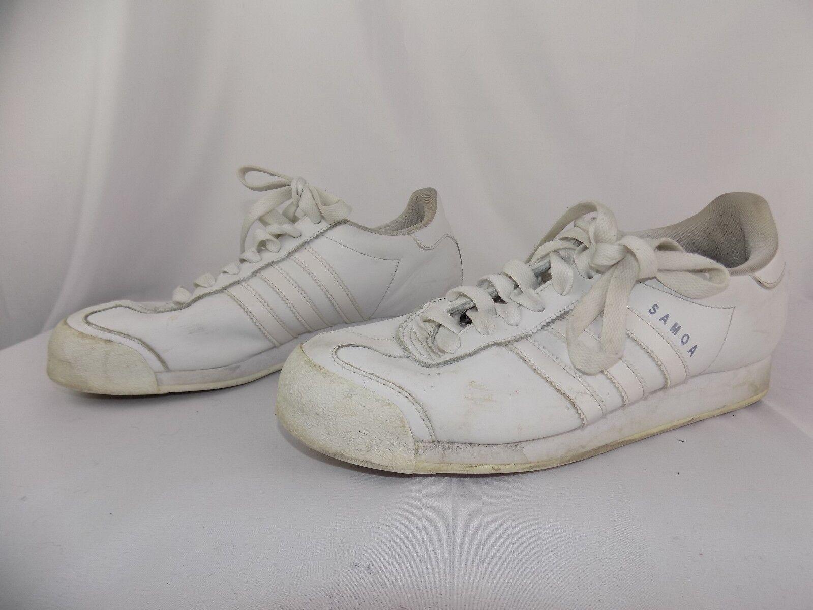 Adidas White Samoa Leather Sneakers shoes Men's Size 9
