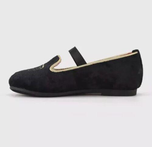 New Genuine Kids By Oshkosh Toddler Girls Joli Ballet Flats Crown Black Size 11