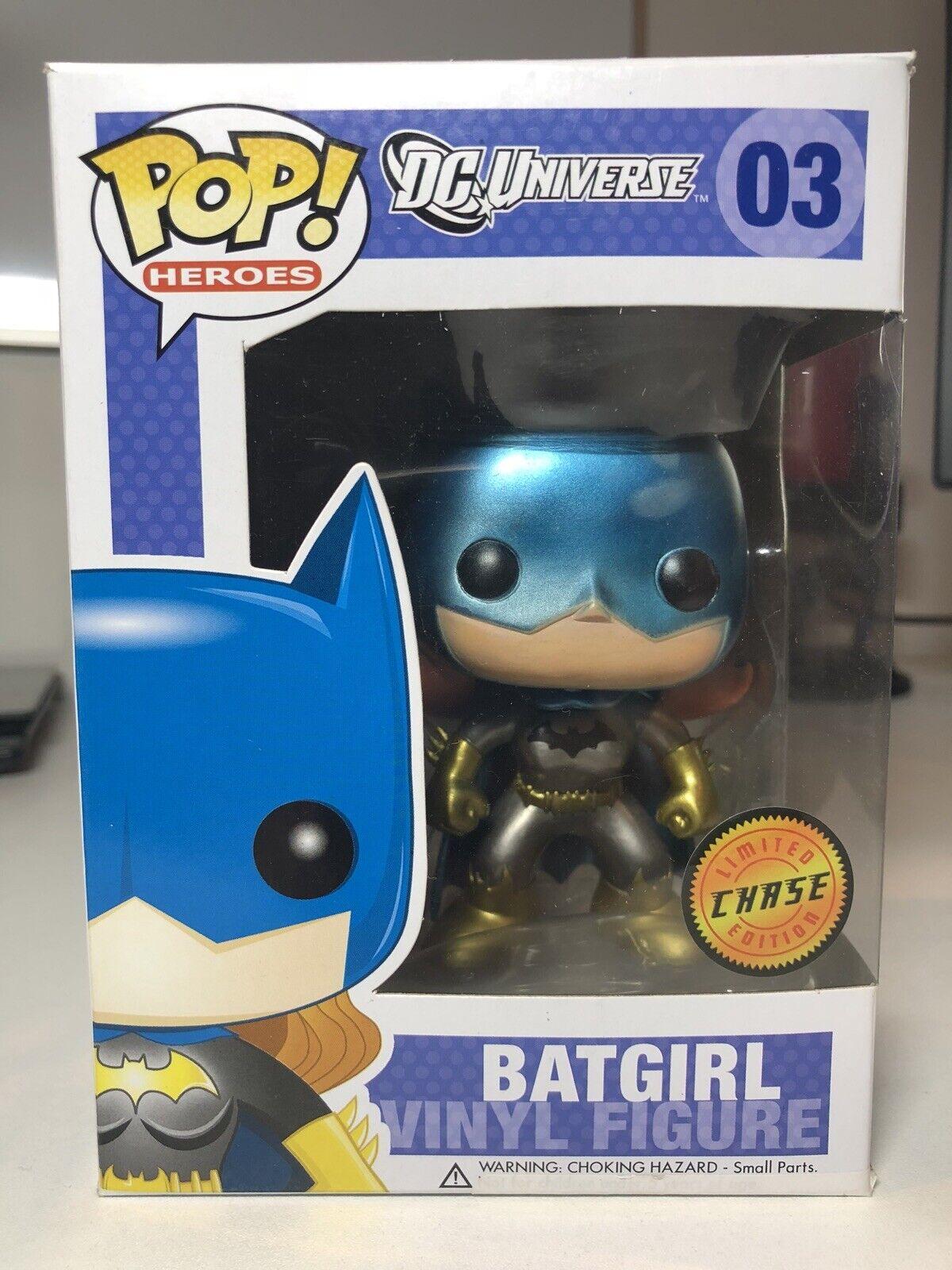 Funko Pop  DC DC Universe BATGIRL METALLIC CHASE  03 RARE DAMAGED