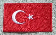 TURKEY FLAG PATCH Embroidered Badge Iron Sew on 4.5cm x 6cm Türkiye Turkish NEW
