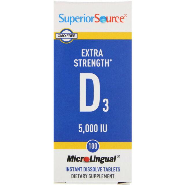 Sublingual High Absorption Vitamin D3 - 5000iu x100tabs