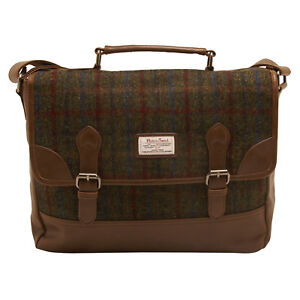 Details About The British Bag Company Breanais Harris Tweed Briefcase Messenger