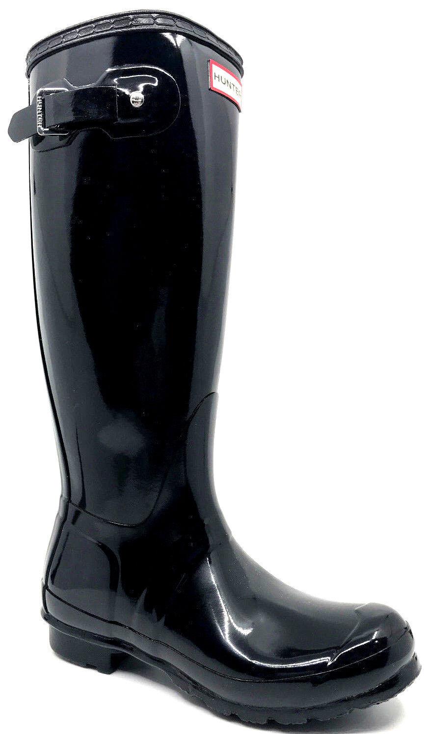 Hunter Hunter Hunter Original Tall Gloss Lluvia Bota Negro wft1000rgl para mujer Talla 7  a la venta