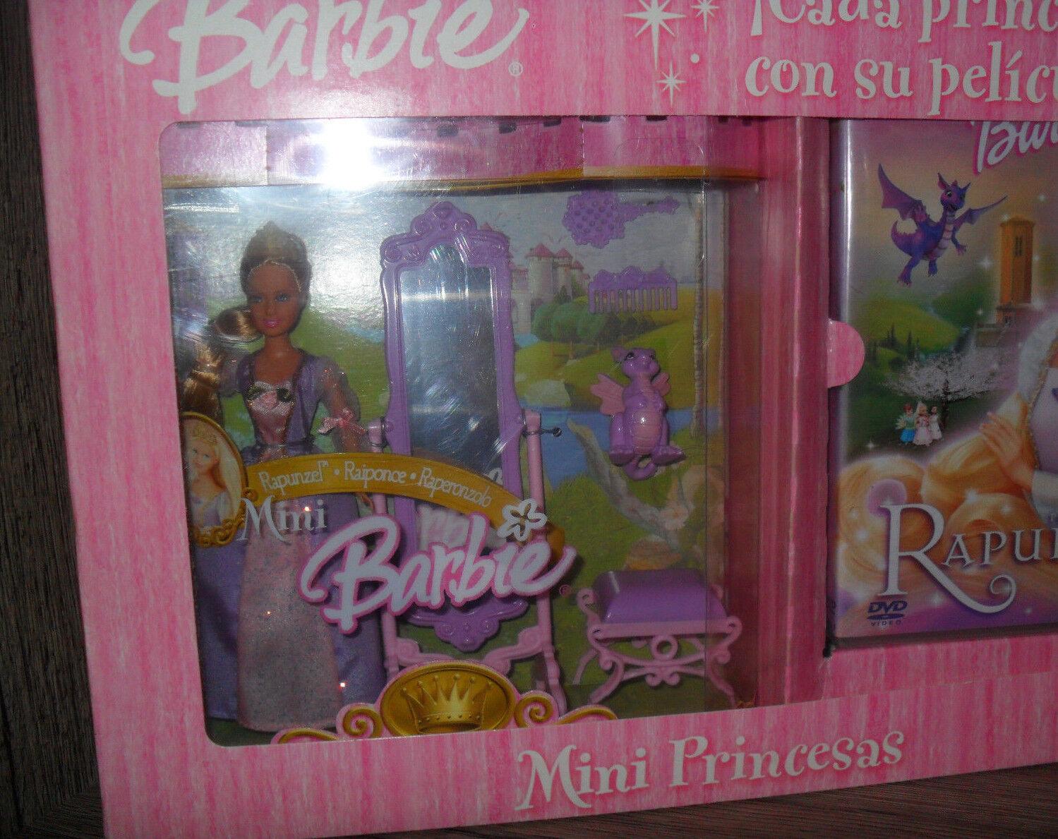 Muñeca Barbie Mini Princesas Mini Princesa Rapunzel NRFB