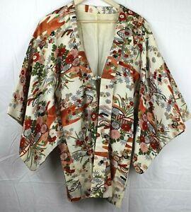 VINTAGE-floral-design-WOMENS-ROBE-KIMONA-32-034