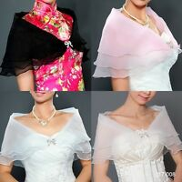 New Womens Wrap Shrug Scarves Wedding Bridal Scarf Shawl Stole White Ivory Black