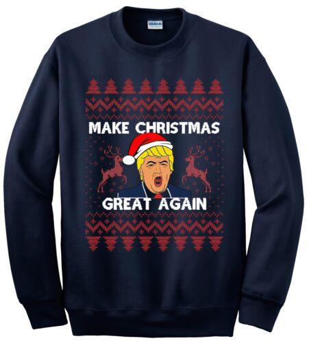DONALD Trump Ugly Christmas Jumper Sweater rendere di nuovo il Natale Perfetto
