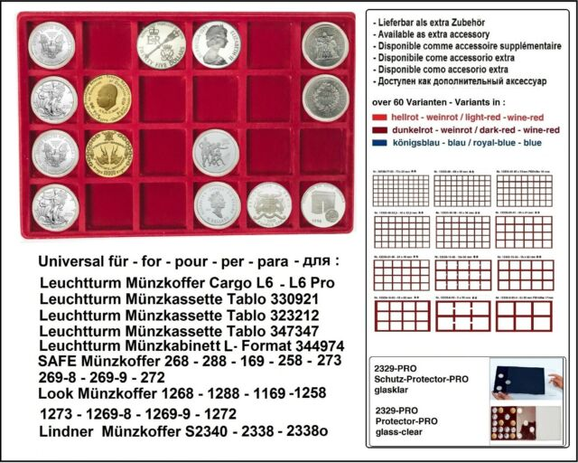 Look 12330-24-46 coin trays 24x 46 mm For US Silver Eagle Dollar IN Capsules