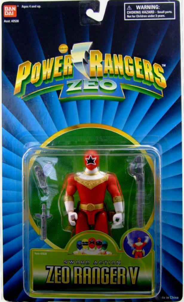 Energia Rangers ZEO 5   rosso Zeo Ranger V nuovo Factory Sealed 1996 W Sword azione  il più alla moda