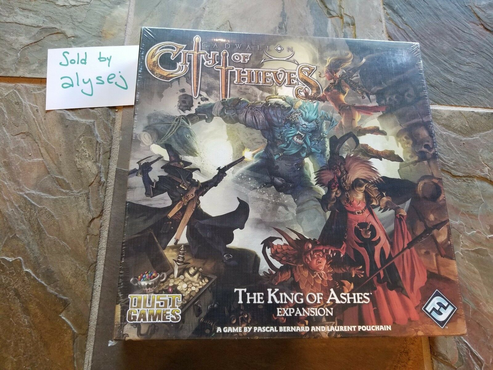 Cadwallon City of Thieves  The King of Ashes FFG Games Board Game New Ships Free