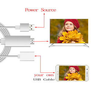 1080P-HDMI-AV-HD-TV-Adapter-Adaptor-Video-Cable-Cord-Wire-for-LG-K20-PLUS-Phone