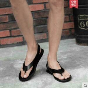 fd12da826f48d9 new summer Mens Leather Beach Sand roman Thong Sandals Flip Flops ...