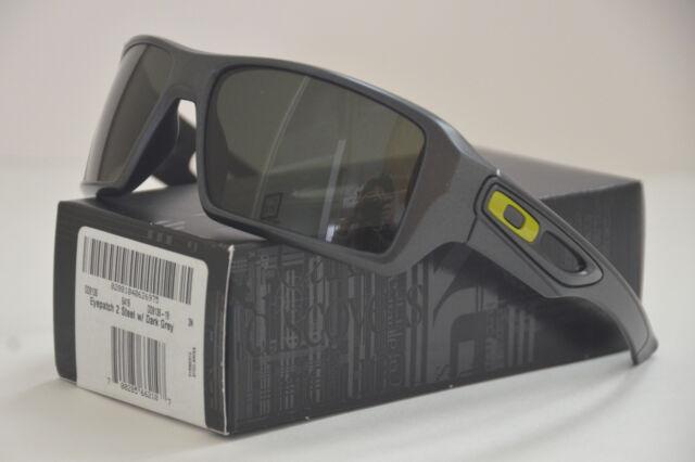 c9d2523ff99 NEW Oakley Eyepatch 2 Sunglasses Steel w Dark Grey Lens 009136-19 FS