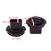 For Ford Maverick H7 Hid Xenon Headlight Bulb Adapter Holder Base Black 2pcs