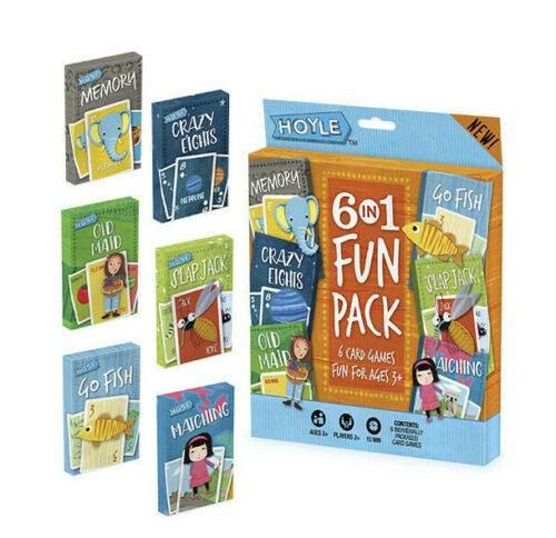 Fun For Ages 3+ 6 in 1 Fun Pack Hoyle 6 Card Games