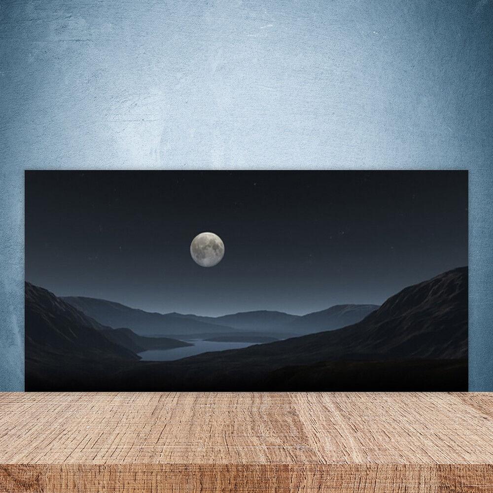 Crédence de cuisine en verre Panneau Paroi 100x50 Paysage Nuit Lune