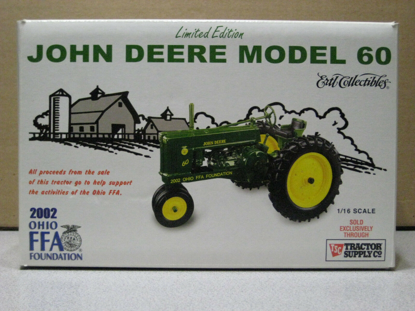 John Deere JD 60 tracteur Limited 2002 OHIO FFA Edition New in Box 1 16