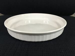 Corning-Ware-French-White-F3B-Round-Quiche-Pan-24cm-10-5-Vintage-Made-In-USA