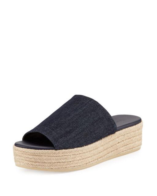 04ecc2843d24 Buy Vince Solana 4 Women s Sandals   Flip Flops DK Denim Size 10 M ...