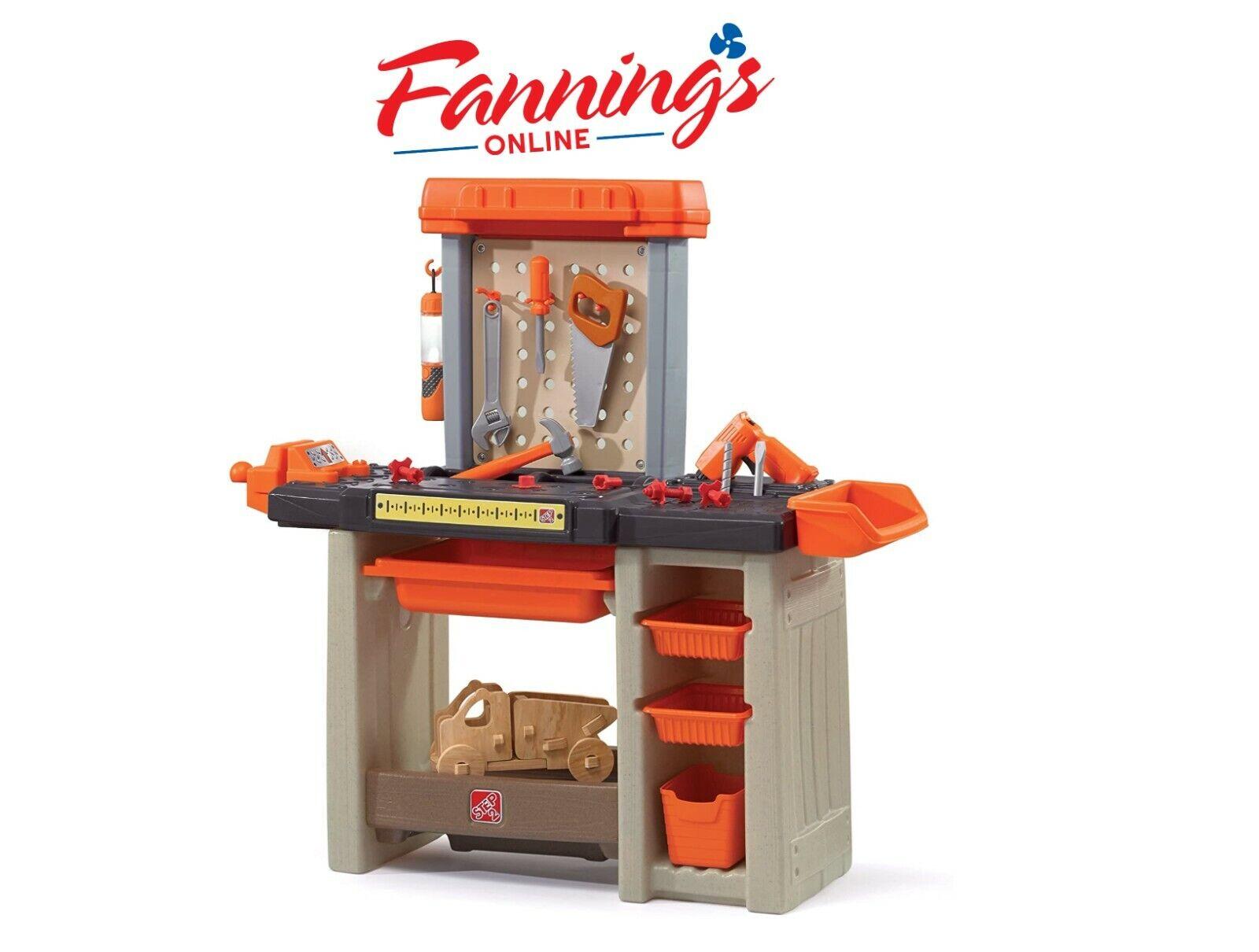 Step2 Handyman Workbench Kids Tool Bench Orange For Sale Online Ebay