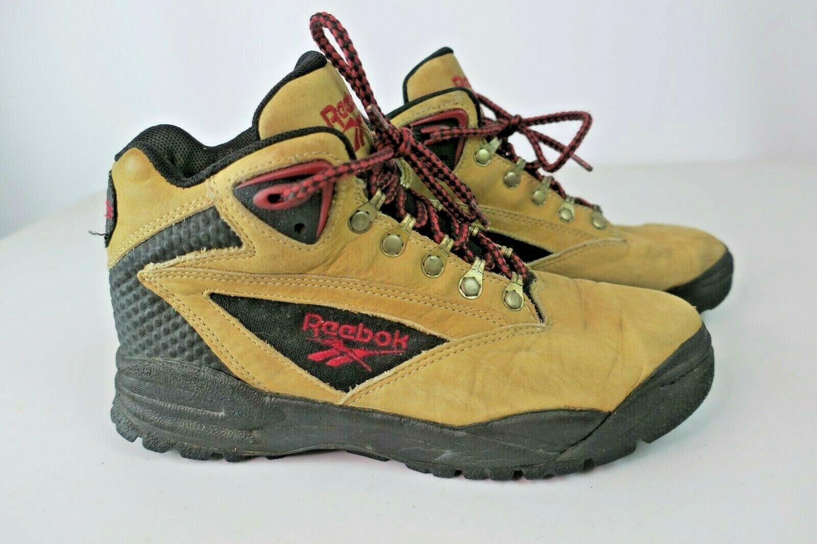 Reebok Vintage Cuero Tostado 90s para senderismo y botas para mujer Talla 8.5