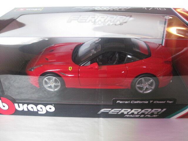 Burago Ferrari California rojo race race race & Play  18-16003r 1 18 nuevo en embalaje original sin abrir a5d235
