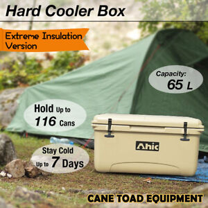 65L Hard Cooler Ice Box Esky Extre Thick Wall Chilly Bin Camping Picnic Fishing